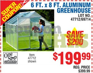 6x8 Greenhouse Kit Coupon