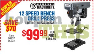 12-Speed Bench Drill Press Coupon