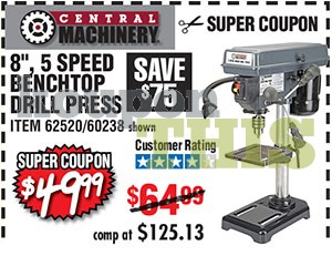 5-Speed Bench Drill Press Coupon