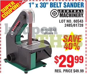 1x30 Belt Sander Coupon