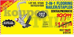 2-in-1 Flooring Nailer Stapler Coupon