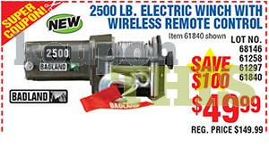 2500-lb Electric Winch Coupon