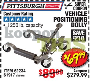 Vehicle Positioning Dolly Coupon