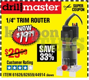 1/4-inch Trim Router Coupon