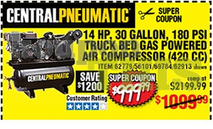 30-Gallon Truck Bed Air Compressor Coupon