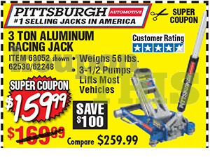 3-Ton Aluminum Racing Jack Coupon
