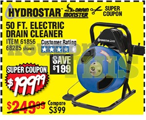 Electric Drain Cleaner Coupon