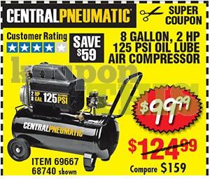 8-Gallon Oil Lube Air Compressor Coupon