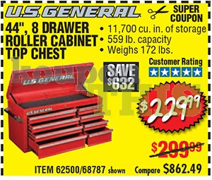 44-inch 8-Drawer Top Chest Coupon