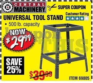 Universal Tool Stand Coupon