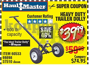 Heavy Duty Trailer Dolly Coupon