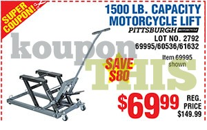 Steel ATV/Motorcycle Lift Coupon