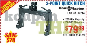 3-Point Tractor Quick Hitch Coupon