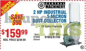 2-HP Dust Collector Coupon